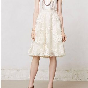 Anthropologie Emeline Ivory Cream Tulle Skirt